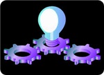 light bulb and gears clipart