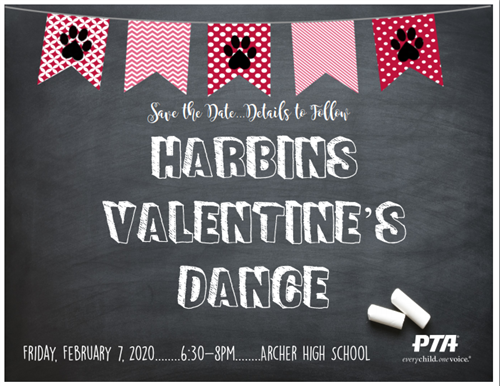 Valentine's Dance on Friday, February th from 6:30-8pm at Archer High School