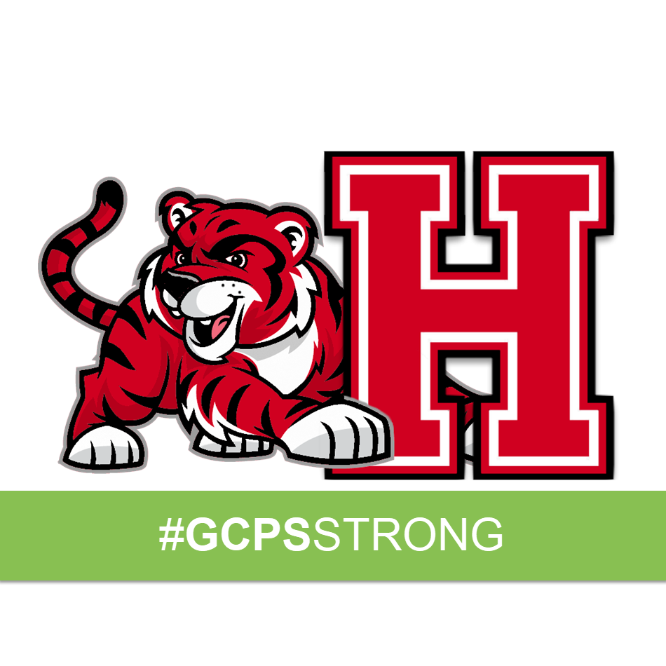 Harbins Tiger with #gcpsstrong text