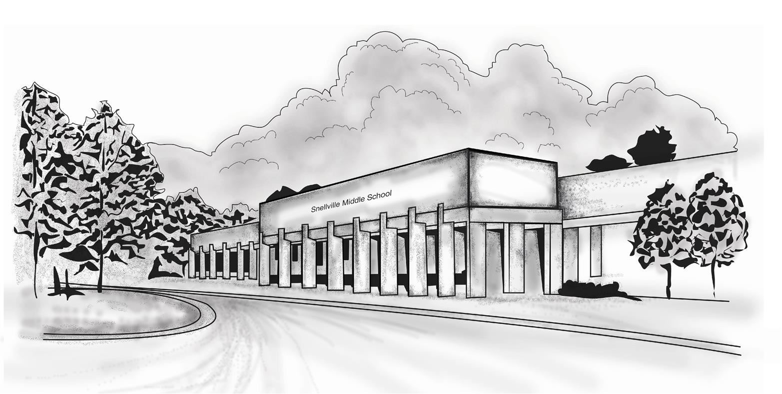 Sketch of Snellville Middle School
