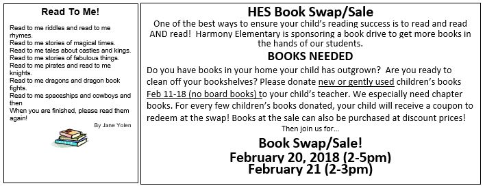HES Book Swap/Sale