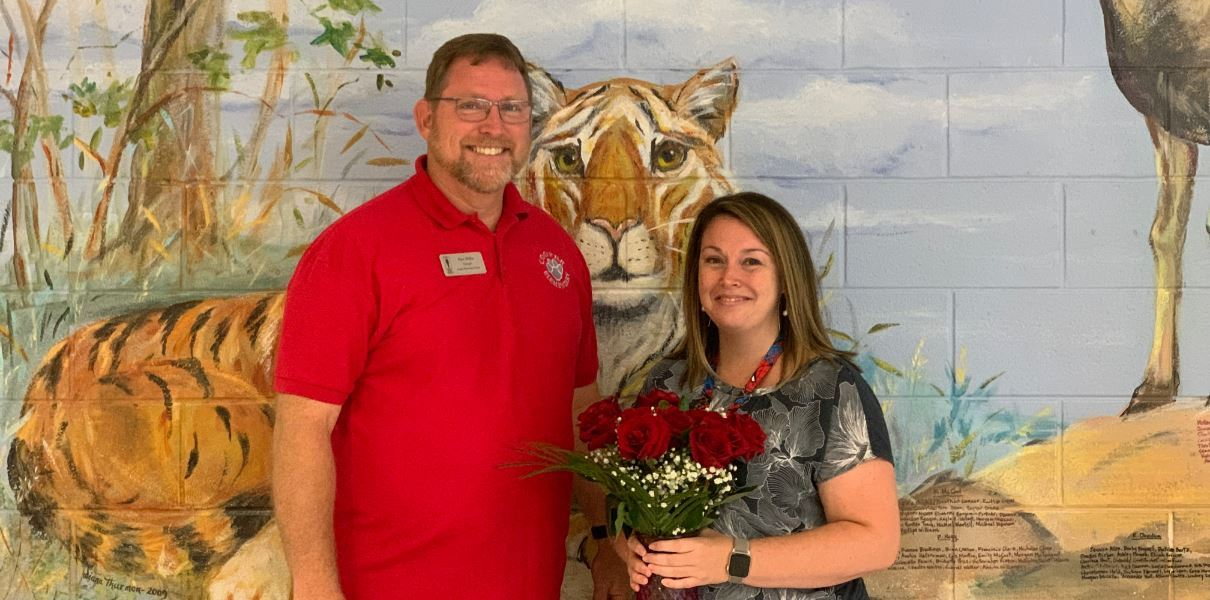 Mr. Willis and 2019 TOTY Mrs. Krisher