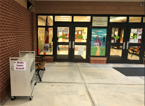 cart located at front doors