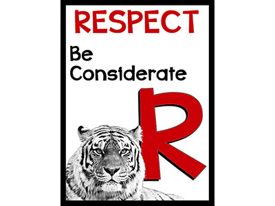 R is for respect tiger