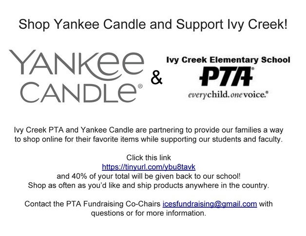 Shop Yankee Candle and Support Ivy Creek